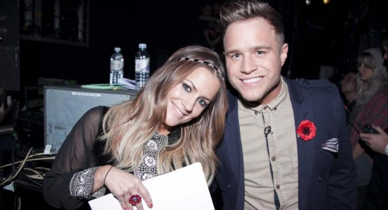 Caroline Flack and and Xtra Factor co-host Olly Murs