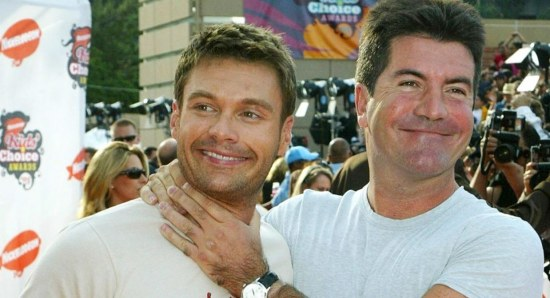 Ryan Seacrest with Simon Cowell