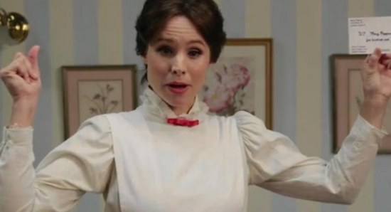 Kristen Bell as Mary Poppins in Funny or Die video