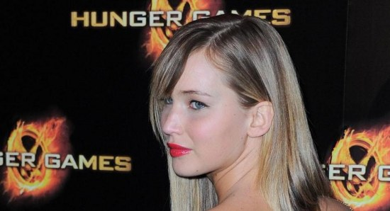 Jennifer Lawrence at a premiere for 'The Hunger Games'