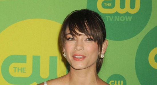 Kristin Kreuk looking gorgeous in white dress