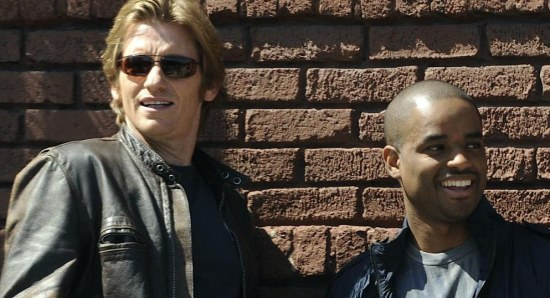 Larenz Tate with Denis Leary in 'Rescue Me'
