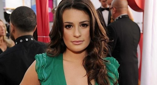 Lea Michele poses for photographers