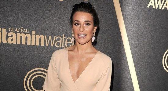 Lea Michele looking glamorous at Golden Globes