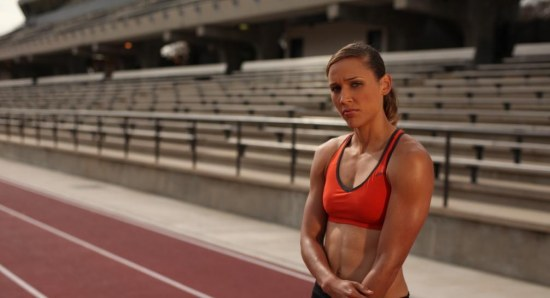 Lolo Jones at track modelling picture