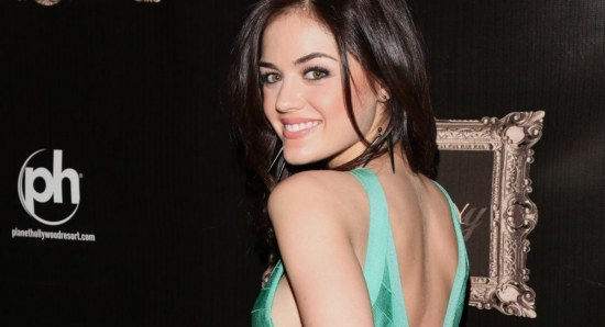 Lucy Hale flashes that stunning smile