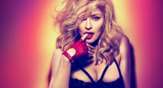 Madonna in provocative pose