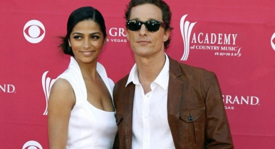 Matthew McConaughey with his wife