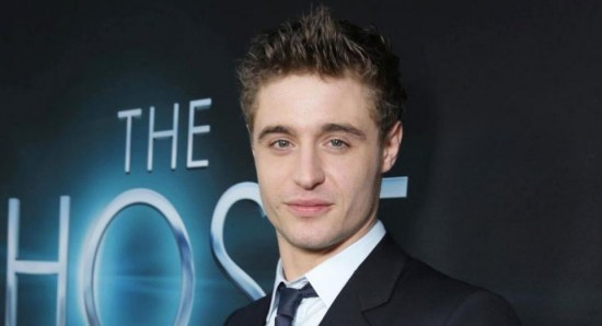 Max Irons in suit at showing of
