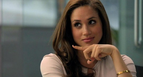 Meghan Markle doing her acting thing