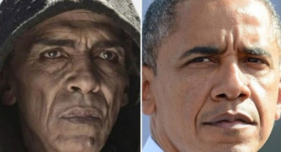 Satan in The Bible alongside President Barack Obama