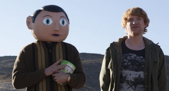 Michael Fassbender and Domhnall Gleeson in Frank