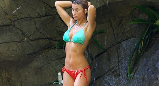 Amy Willerton taking a sexy shower