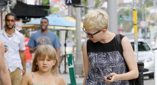Michelle Williams with her daughter Matilda
