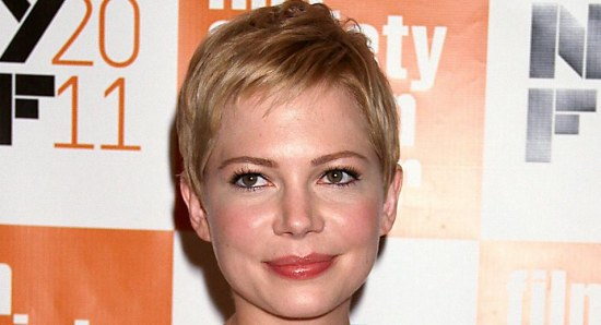 Michelle Williams looking elegant in white dress