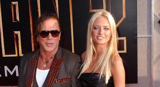 Mickey Rourke at the premiere of Iron Man 2