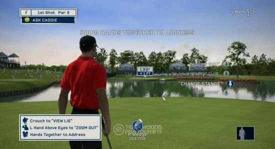 Tiger Woods golf on the Xbox Kinect