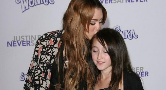Miley Cyrus with little sister Noah Cyrus