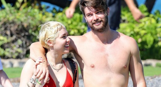 Miley Cyrus with Patrick Schwarzenegger
