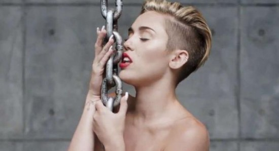 Miley Cyrus in Wrecking Ball video