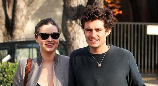 Miranda Kerr with Orlando Bloom