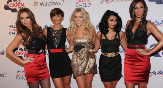 Mollie King with her The Saturdays girls