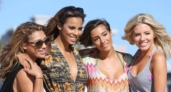 The Saturdays pose for the camera