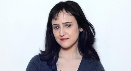 Mara Wilson in blue sweater