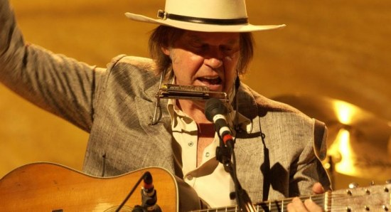 Neil Young shows his talent