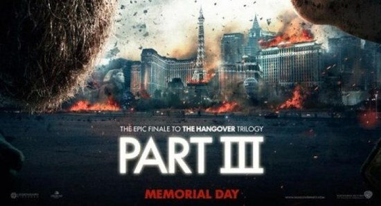 The poster for The Hangover Part III