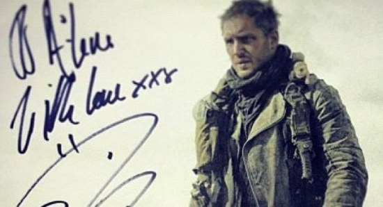 The supposed picture of Tom Hardy in Mad Max: Fury Road