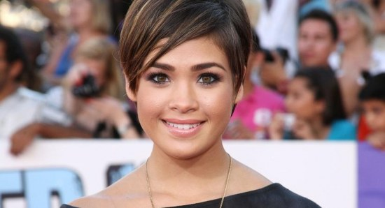 Nicole Anderson with shorter hair