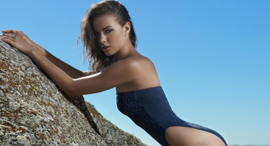 Nicole Meyer takes sensual goddess image to new level in nude dress