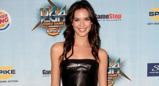 Odette Annable looking great in black dress