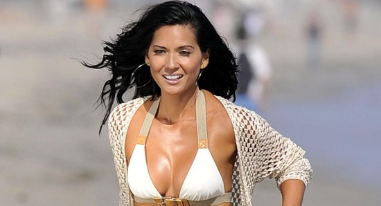 Olivia Munn looking great in white bikini