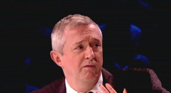 Louis Walsh in his judging duties on X Factor