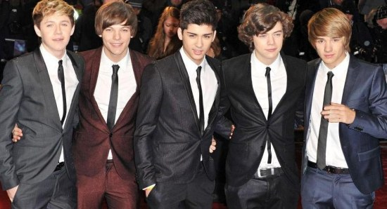 The One Direction boys on the red carpet