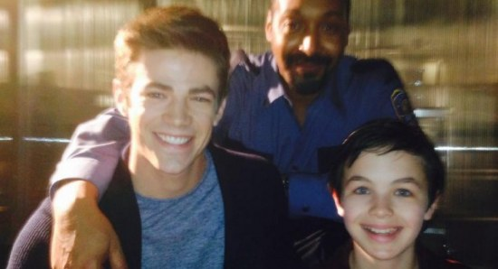 Logan Williams with The Flash team