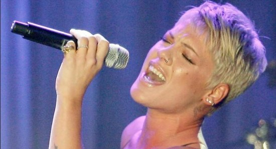 P!nk performing live