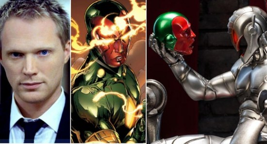 Paul Bettany will play The Vision