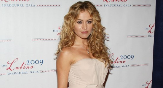 Paulina Rubio looking glamorous in gown
