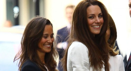 Pippa Middleton with sister Kate