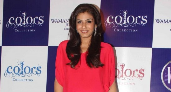 Raveena Tandon looking relaxed in jeans