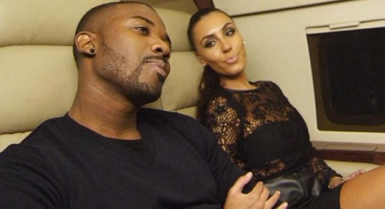 Ray J with Kim Kardashian look-a-like