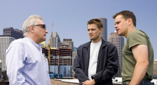 Leonardo DiCaprio on the set of 'The Departed'