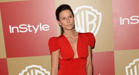 Rhona Mitra looking gorgeous in red dress