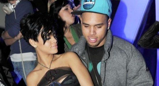 Chris Brown and Rihanna at a party together