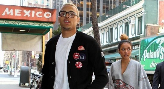 Chris previously dated Karrueche