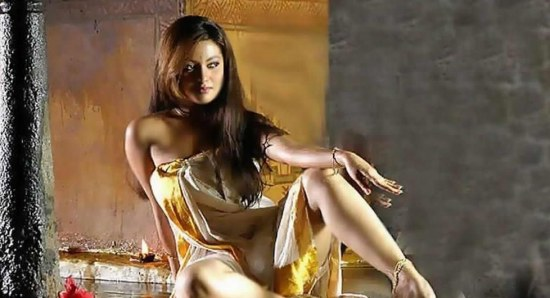 Riya Sen looking great modelling yellow dress