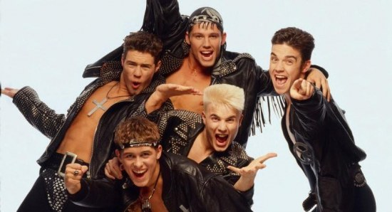 Robbie Williams in his early Take That days